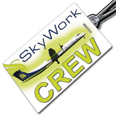 Skywork Airlines DHC8 Q400 Crew Tag
